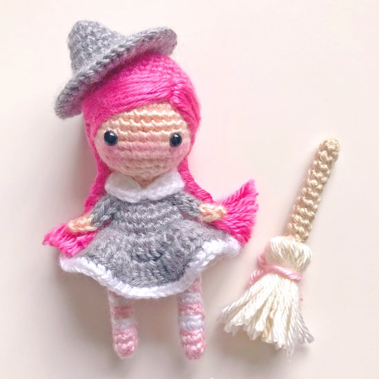 Whimsy the Witch Amigurumi Doll