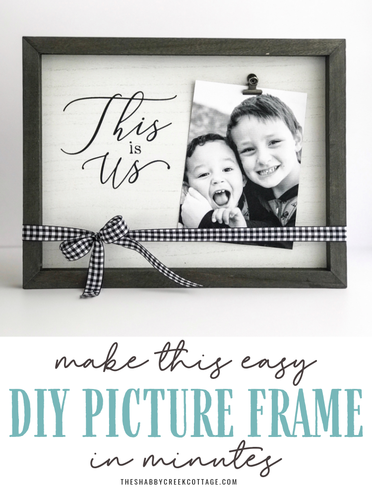 How to Make a Beautiful DIY Picture Frame in Minutes