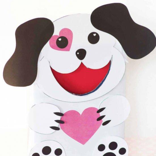 puppy dog valentine box | craftgawker