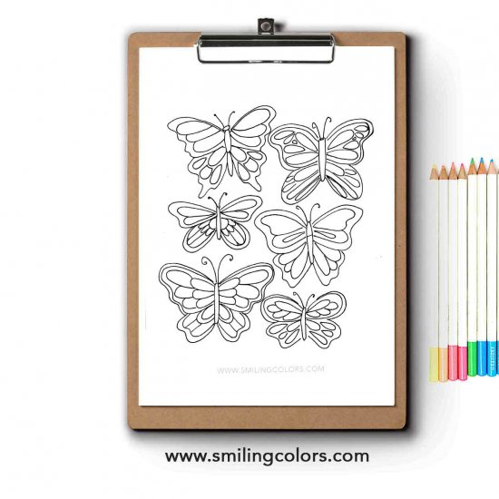 free butterfly coloring paper | craftgawker