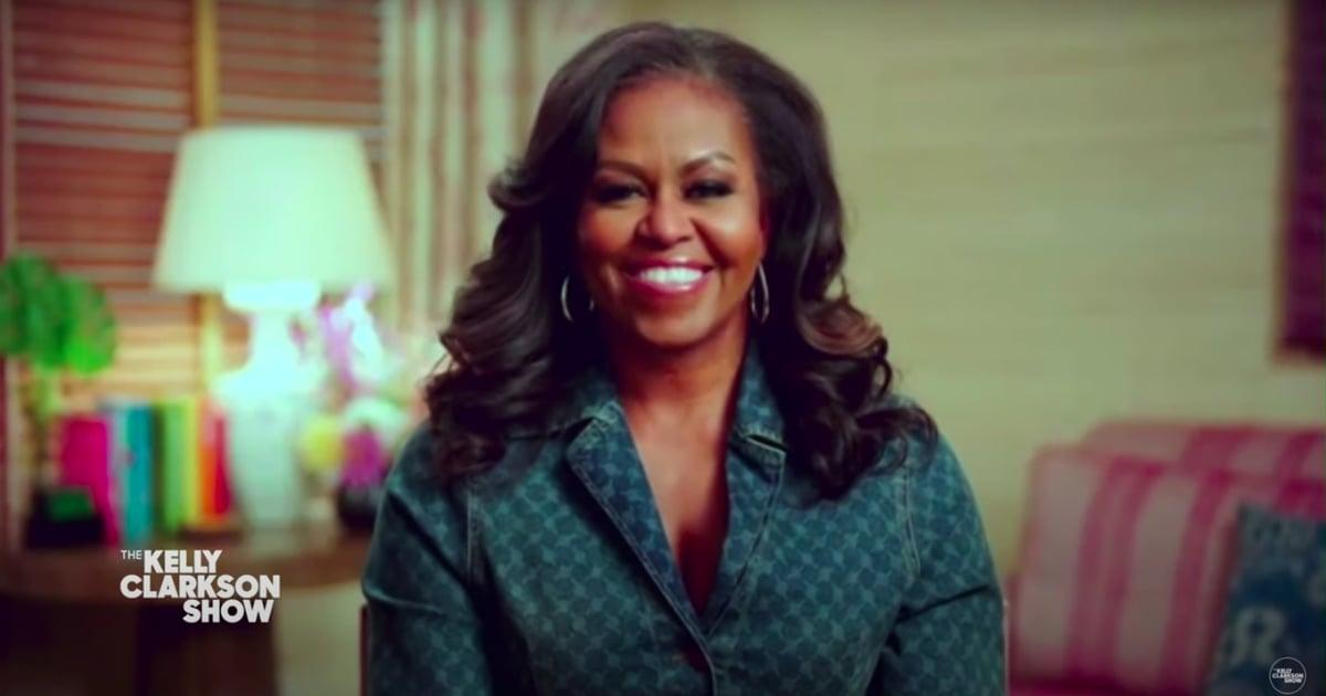 Michelle Obama Wears Denim Shirt on Kelly Clarkson Show